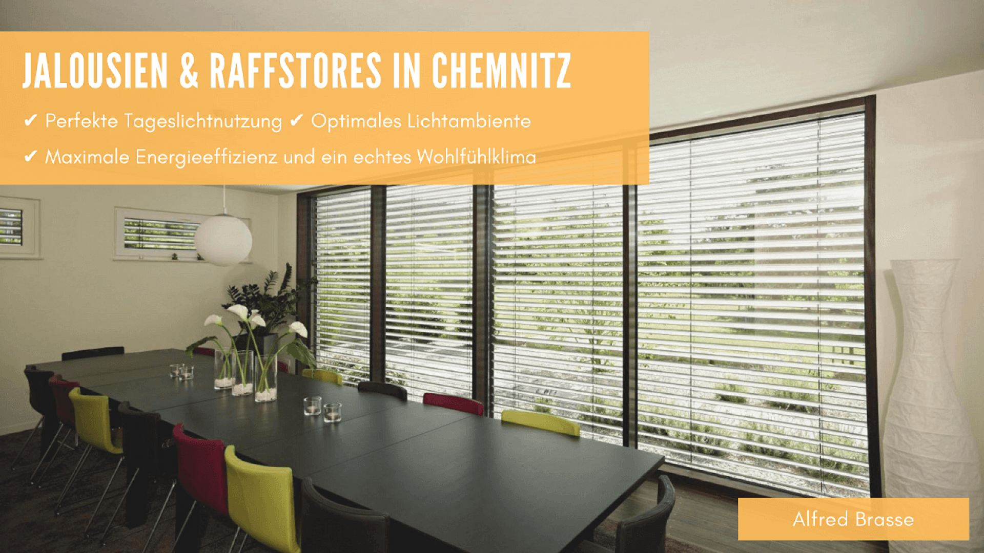 Jalousien und Raffstores (Außenjalousien) in Chemnitz