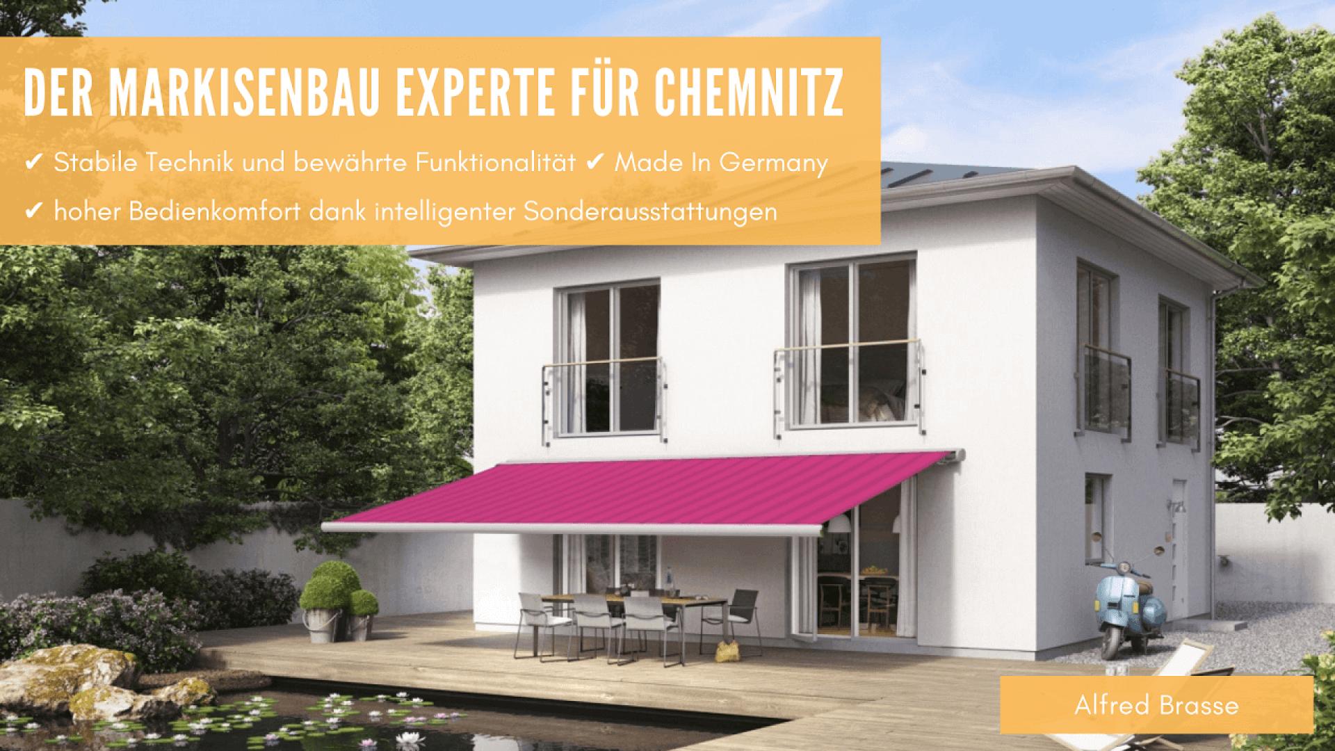 Markise vom Markisenbau Experten in Chemnitz